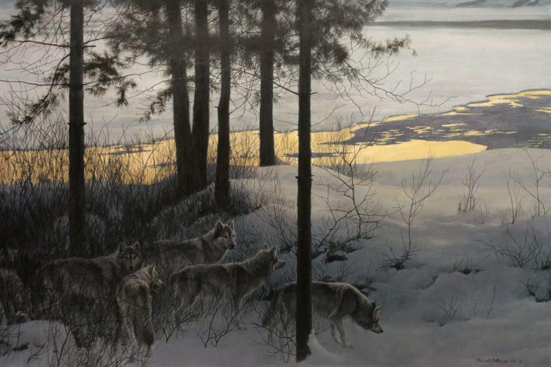 Robert Bateman-Edge of Night Timber Wolves