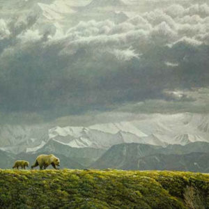 Robert Bateman-along the ridge grizzly bear