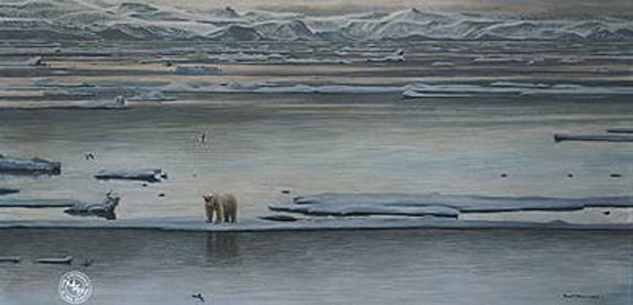 Robert Bateman-arctic ice polar bear