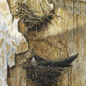 Robert Bateman-chimney swift on nest