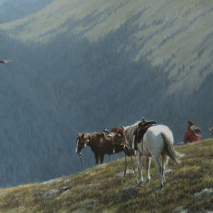 Robert Bateman-cowboys and golden eagle