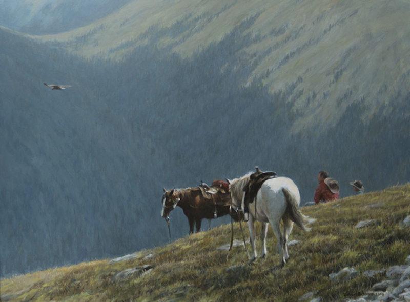 Robert Bateman-cowboys and golden eagle