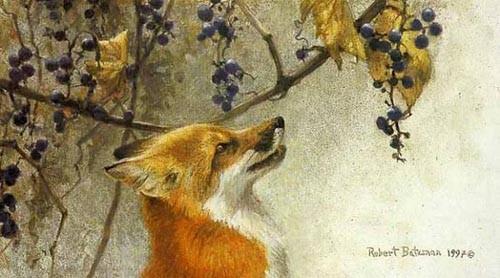 Robert Bateman-fox and grapes