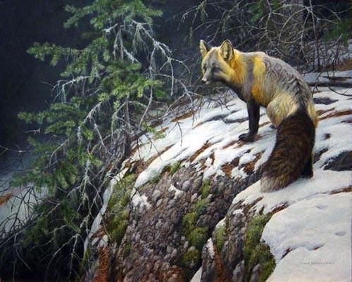 Robert Bateman-fox crossing