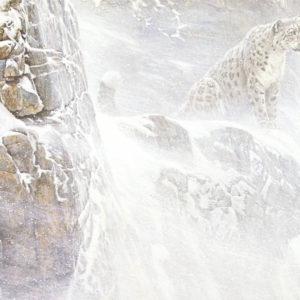 Robert Bateman-high kingdom snow leopard