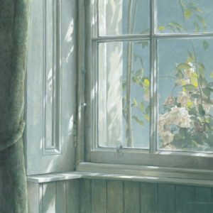 Robert Bateman-manor house wren roses