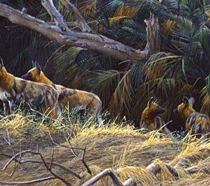 Robert Bateman-painted dogs