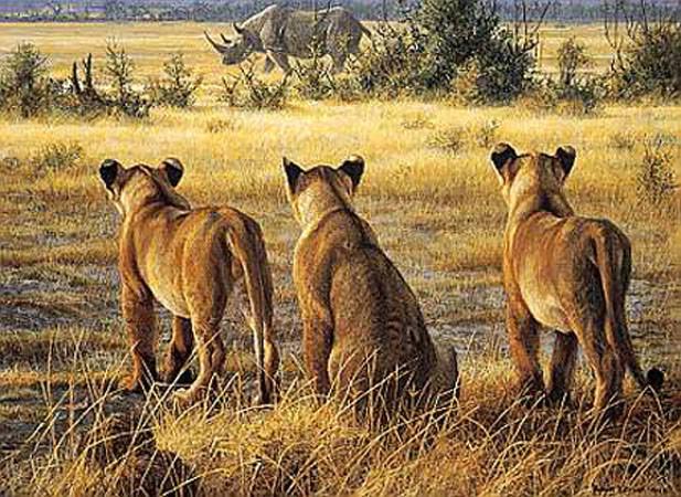 Robert Bateman-passing fancy lion cubs