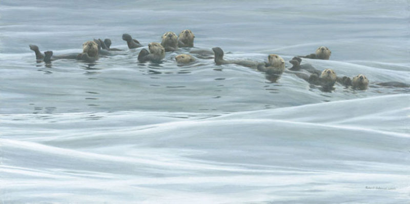 Robert Bateman-raft of otters