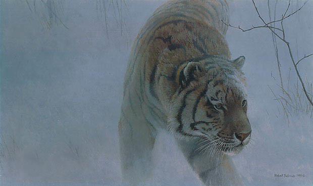 Robert Bateman-twilight siberian tiger