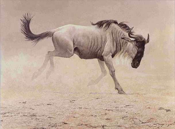 Robert Bateman-wildebeest