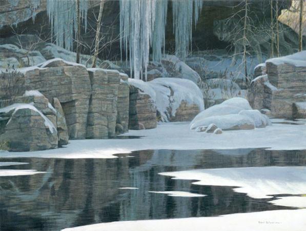 Robert Bateman-winter reflection