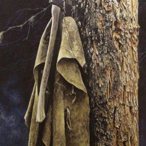 Robert Bateman-wranglers campsite gray jay