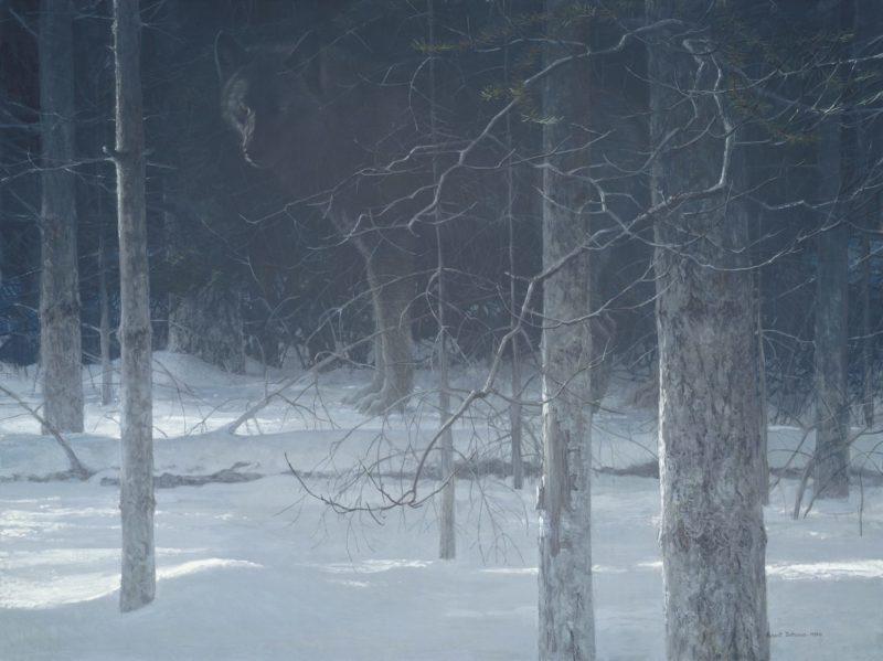 Robert Bateman-Midnight Black Wolf