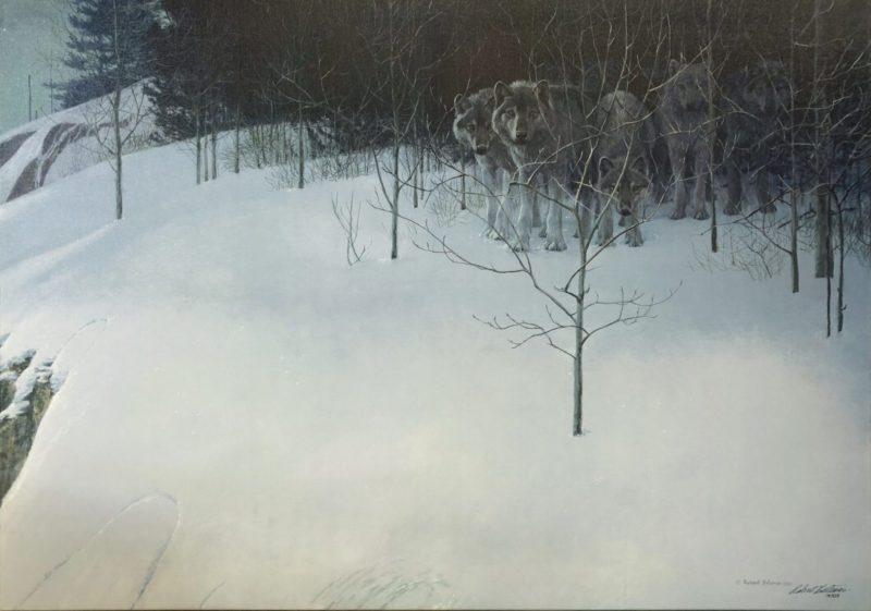 Robert-Bateman-Clear-Night-Wolves